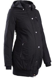Мода для беременных: короткая куртка-парка с капюшоном (омаровый) Bonprix