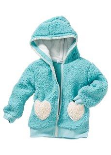 Плюшевая куртка (кремовый/цвет фуксии) Bonprix