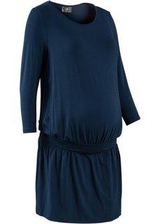 Мода для беременных: трикотажное платье с функцией кормления (зеленый хаки) Bonprix