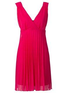 Плиссированное платье (темно-синий) Bonprix