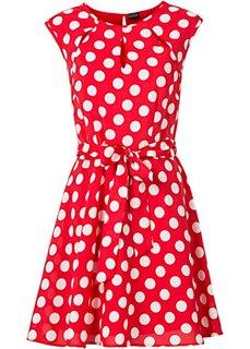Платье в горошек (мятный/белый в горошек) Bonprix