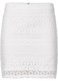 Кружевная юбка (пастельная аква) Bonprix