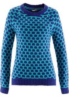 Пуловер (кирпично-красный/цвет белой ше) Bonprix
