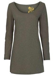Удлиненная футболка (песочный) Bonprix
