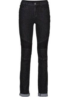 Байкерские брюки Skinny (темный деним) Bonprix