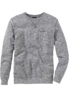 Пуловер (кленово-красный/белый меланж) Bonprix