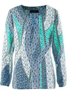 Блузка-туника (цвет белой шерсти/лососевый с ) Bonprix