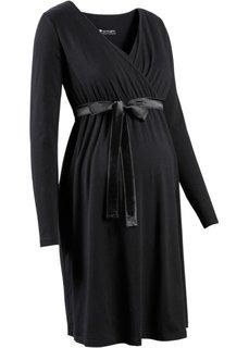 Мода для беременных: платье с функцией кормления (серый меланж) Bonprix