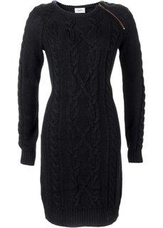Вязаное платье (темно-оливковый) Bonprix