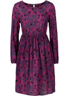 Платье со сборками в талии (черный/серый с рисунком) Bonprix