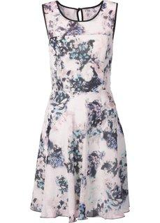 Шифоновое платье (нежно-розовый в цветочек) Bonprix
