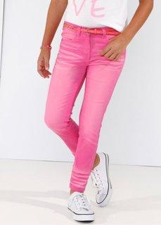 Брюки Skinny с потертостями, Размеры  116-170 (ярко-розовый фламинго) Bonprix