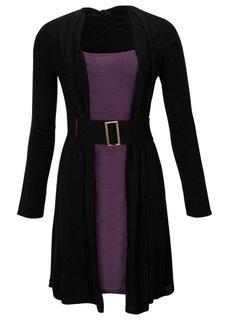 Платье (цвет красной ягоды/черный) Bonprix