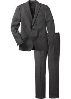 Пиджак + брюки (2 изд.)  Slim Fit, cредний рост (N) (антрацитовый) Bonprix
