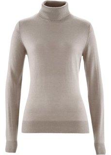Пуловер с кашемиром ПРЕМИУМ (капучино) Bonprix