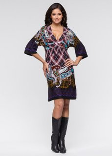 Платье (черный/лиловый) Bonprix