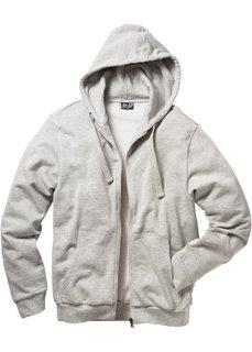 Трикотажная куртка Regular Fit (натуральный меланж/черный в по) Bonprix
