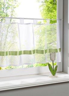Кухонная штора Элли, петли (белый) Bonprix