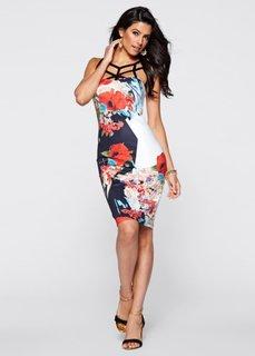 Платье (черный в цветочек) Bonprix