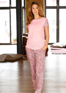 Пижама (розовый с рисунком) Bonprix