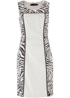 Платье с узором зебры (серо-коричневый с рисунком зеб) Bonprix