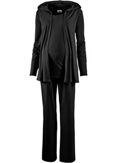 Мода для беременных: спортивные костюм из куртки, брюк и топа (3 изд.) (серо-синий) Bonprix