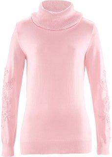 Пуловер с вязаным кружевом ПРЕМИУМ (верблюжий) Bonprix