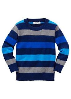 Пуловер, разм. 128-170 (сине-зеленый в полоску) Bonprix