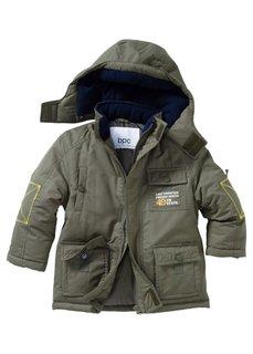 Куртка-парка на теплой подкладке, Размеры  80/86-128/134 (темно-синий) Bonprix