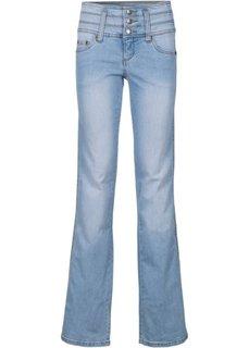 Стройнящие джинсы-стретч BOOTCUT, cредний рост (N) (темно-синий) Bonprix