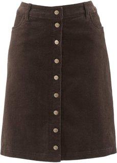 Вельветовая юбка (темно-синий) Bonprix