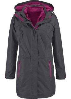 Удлиненная куртка 3 в 1 (фиолетовая орхидея в клетку) Bonprix