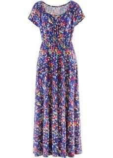 Трикотажное платье с коротким рукавом (капри-синий) Bonprix