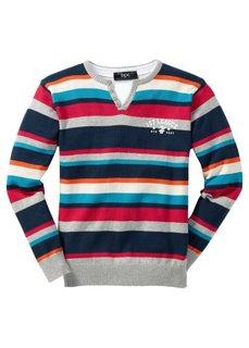 Пуловер (черный в полоску) Bonprix