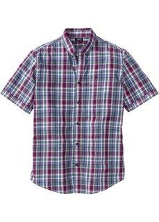 Клетчатая рубашка Regular Fit с коротким рукавом (темно-оранжевый в клетку) Bonprix