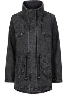 Джинсовая куртка-парка (синий «потертый» «мраморный») Bonprix