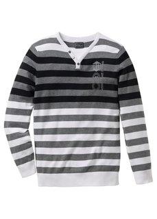 Пуловер Slim Fit (антрацитовый меланж/темно-оран) Bonprix