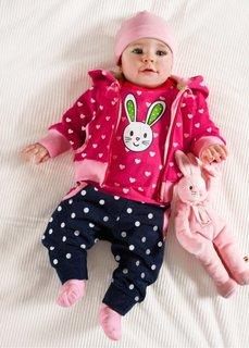 Трикотажная куртка (горячий ярко-розовый с рисунко) Bonprix
