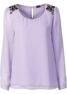 Шифоновая блузка (цвет белой шерсти) Bonprix