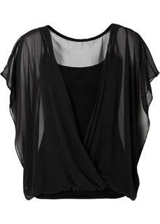 Трикотажная блузка (кобальтовый) Bonprix