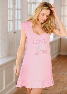Ночная рубашка (нежно-розовый/серебристый с пр) Bonprix