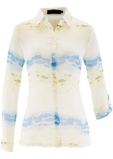 Шифоновая блузка с принтом (белый/нектариновый с принтом) Bonprix