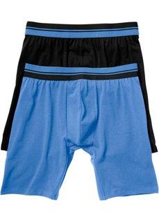 Длинные боксеры (2 шт.) (темно-синий/зеленый) Bonprix