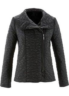 Стеганая куртка с принтом (омаровый/белый в горошек) Bonprix