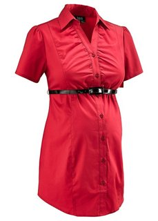Бизнес-мода для беременных: блузка-стретч  + ремень (2 изд.) (белый) Bonprix