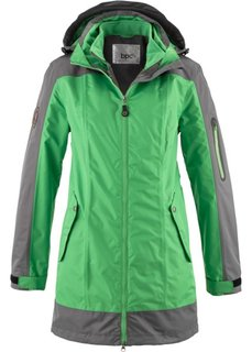 Функциональная куртка 3 в 1 (темно-синий/матовый цвет мха) Bonprix
