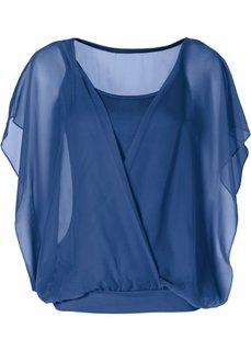 Трикотажная блузка (черный) Bonprix