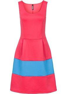 Платье из материала под неопрен (ночная синь/светло-оливковый) Bonprix