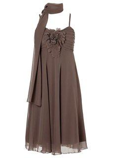 Платье + шарфик (2 изд.) (черный) Bonprix