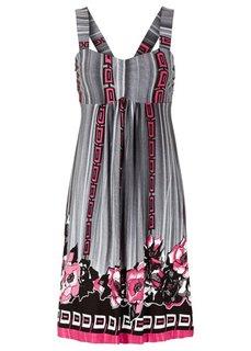 Трикотажное платье (зеленый/черный/желтый/белый с ) Bonprix